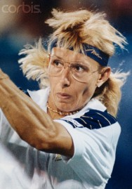 Martina Navratilova in 1990 U.S. Open