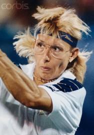 Martina Navratilova in 1990 U.S. Open