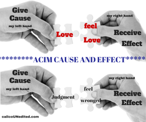 Give Cause is to Receive Effect
