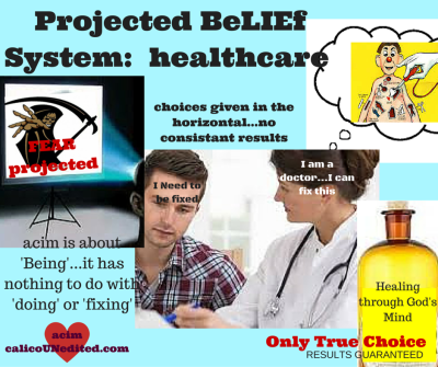 Projected beLIEf system: Healthcare